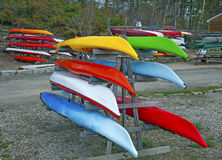 Kayaks for sale Royalty Free Stock Photography