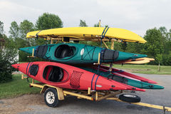 Kayaks and Trailer Stock Photo