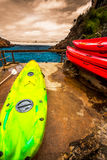 Kayaks in the Tsitsikamma National Park. South Africa Stock Image