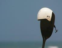 Kayaksurf helmet and padle Stock Images