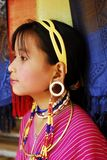 Kayan girl with big lobe Royalty Free Stock Image