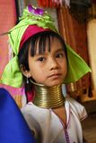 Kayan girl with long neck Royalty Free Stock Photography