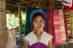 Kayan girl. In the Long neck village Royalty Free Stock Photos