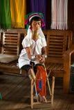 Kayan Lahwi en äldst kvinna rotera arkivbild