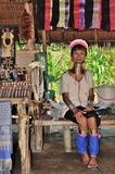 Kayan Lahwi long neck village. Thailand Kayan Lahwi stretched long neck Stock Images
