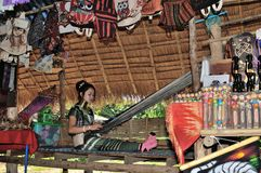 Kayan Lahwi long neck village. Thailand Kayan Lahwi stretched long neck Royalty Free Stock Photos