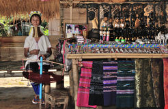 Kayan Lahwi long neck village. Thailand Kayan Lahwi stretched long neck Royalty Free Stock Image