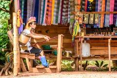 Kayan-Stamm, Kayan Dame in Kayan-Dorf, Kayah-Zustand, Myanmar Lizenzfreie Stockfotografie
