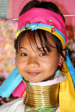 Kayan woman. The Kayan are a group of the Karenni people, a Tibeto-Burman ethnic minority of Burma (Myanmar Stock Photo
