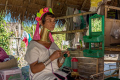 Kayan woman. In the Long neck village Stock Photo