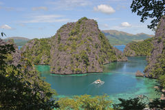 Kayangan lake or blue lagoon, Coron, Philippines Royalty Free Stock Photo