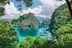 Kayangan Lake,Palawan, Philippines. Most famous place in Coron island is kayangan lake. Coron is a part of Palawan ,really famous Philippines`s island royalty free stock photo