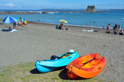 Kayas in Matheson Bay New Zealand Royalty Free Stock Photography