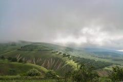 Kaydagorlandschap op de berg op de manier aan de Krim Ordzhonikidze Stock Foto