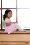 Kayla by the window 2 Stock Photos