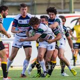 Kayle van Zyl - Campionato Italiano di Eccellenza di Rugby, Gara 1 Semifinale Playoff Scudetto 2014/15, stadio Quaggia di Mogliano Stock Photo