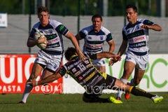 KAYLE VAN ZYL - Campionato Italiano di Eccellenza di Rugby, Gara 1 Semifinale Playoff Scudetto 2014/15, stadio Quaggia di Mogliano Royalty Free Stock Image
