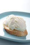 Kaymak on a bread Royalty Free Stock Images