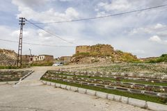 Kaymakli is tourist town in Nevsehir. Underground ciys located in Kaymakli. General town vie royalty free stock image