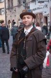 KAYSERSBERG - Γαλλία - 29 Απριλίου 2017 - άτομο με το πανκ costu ατμού Στοκ Φωτογραφία