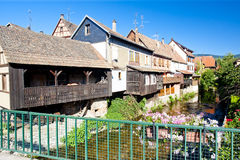 Kaysersberg Alsace, Frankrike arkivfoton