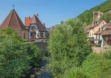 Kaysersberg Alsace, Frankrike Royaltyfri Fotografi