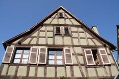 Kaysersberg, traditioneel huis Stock Afbeeldingen