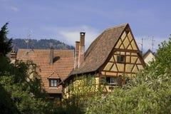 Kaysersberg, traditionele huizen Royalty-vrije Stock Foto's