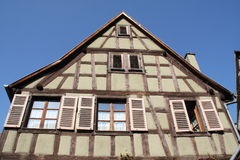 Kaysersberg, traditionelles Haus Stockbilder