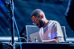 Kaytranada Haitian-Canadian DJ and record producer performs in concert at Sonar Festival. BARCELONA - JUN 17: Kaytranada Haitian-Canadian DJ and record producer royalty free stock images