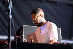 Kaytranada Haitian-Canadian DJ and record producer performs in concert at Sonar Festival. BARCELONA - JUN 17: Kaytranada Haitian-Canadian DJ and record producer royalty free stock image