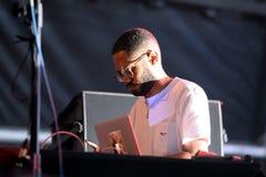 Kaytranada kanadyjczyk DJ i dokumentacyjny producent wykonujemy w koncercie przy sonaru festiwalem obraz royalty free