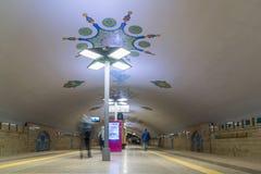 Kazán, Rusia - 25 de marzo 2017 Interior de la estación de metro el Kremlin Fotografía de archivo