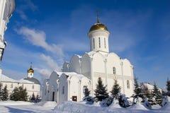 Kazán, Rusia, el 9 de febrero de 2017, bóvedas de oro en el monasterio de Zilant - el edificio ortodoxo más viejo Imágenes de archivo libres de regalías