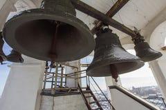 Kazán, Rusia, el 9 de febrero de 2017, campanario dentro en el monasterio de Zilant - el edificio ortodoxo más viejo Imágenes de archivo libres de regalías
