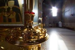 Kazán, Rusia, el 9 de febrero de 2017, iglesia interior en el monasterio de Zilant - el edificio ortodoxo más viejo de los acceso Fotos de archivo