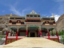 Kaza Spity谷的佛教徒修道院 免版税库存图片