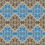 Kazach, azjata, kwiecisty, kwiecisty bezszwowy wzór, ilustracji