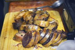 Kazach krajowi naczynia, koński mięso obrazy stock
