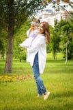 Kazach matka z dziećmi Obrazy Stock