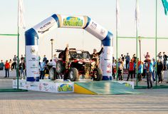 KAZACHSTAN AKTAU - MAJ 27 2018 Otwarcia FIA pucharu świata wiec 2018 KAZACHSTAN, AKTAU fotografia stock