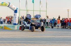 KAZACHSTAN AKTAU - MAJ 27 2018 Otwarcia FIA pucharu świata wiec 2018 KAZACHSTAN, AKTAU obrazy stock