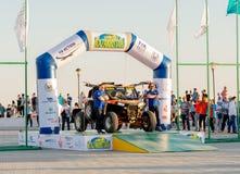 KAZACHSTAN AKTAU - MAJ 27 2018 Otwarcia FIA pucharu świata wiec 2018 KAZACHSTAN, AKTAU obraz royalty free