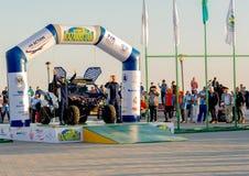 KAZACHSTAN AKTAU - MAJ 27 2018 Otwarcia FIA pucharu świata wiec 2018 KAZACHSTAN, AKTAU zdjęcia royalty free