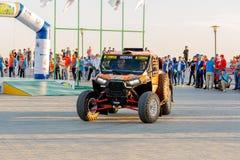 KAZACHSTAN AKTAU - MAJ 27 2018 Otwarcia FIA pucharu świata wiec 2018 KAZACHSTAN, AKTAU zdjęcia stock