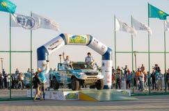 KAZACHSTAN AKTAU - MARZEC 27 2018 Otwarcia FIA pucharu świata wiec 2018 KAZACHSTAN, AKTAU zdjęcie stock