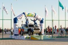 KAZACHSTAN AKTAU - MARZEC 27 2018 Otwarcia FIA pucharu świata wiec 2018 KAZACHSTAN, AKTAU fotografia stock