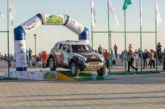 KAZACHSTAN AKTAU - MARZEC 27 2018 Otwarcia FIA pucharu świata wiec 2018 KAZACHSTAN, AKTAU zdjęcie royalty free