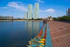 Kazachstan. Astana. Bulwar. Fotografia Royalty Free