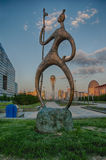 KAZACHSTAN ASTANA MAY 27: widok Bayterek na Maju 27, 2008 Bayt Fotografia Stock